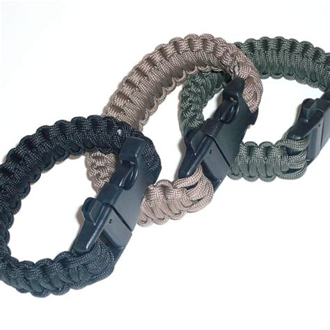 paracord bracelet with paracord survival bracelet with whistle buckle comrades
