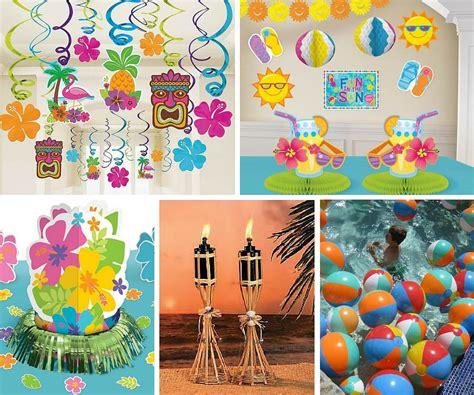 supplies decorations luau ideas summer ideas at birthday in a box