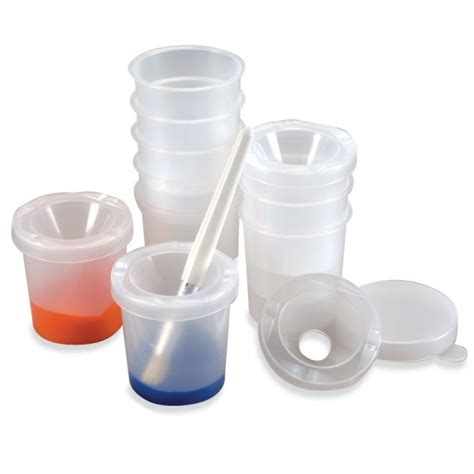 acrylic paint on plastic pots spill proof paint pots for small