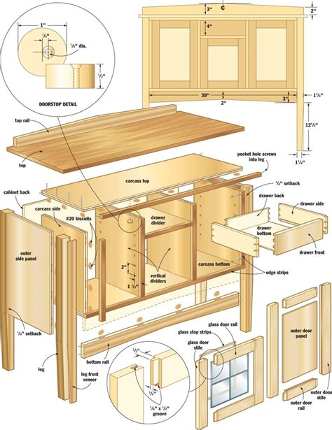 woodworking plans for cabinets cabinet blueprints woodworking projects plans