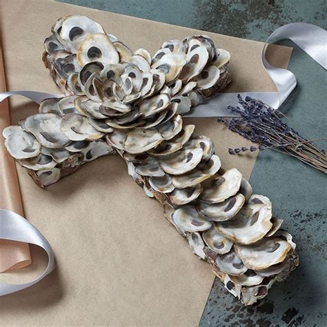 oyster shell craft projects oyster shell cross 69 craft ideas