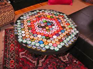 bottle cap table top bottle cap table with poured resin surface