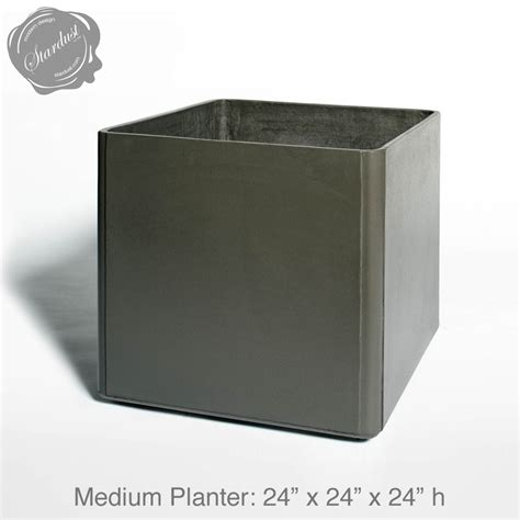 square planter mid century modern pots and planters square planter 24 quot h