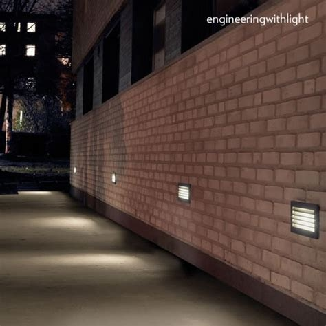 recessed garden wall lights norlys grimstad louvered recessed wall light