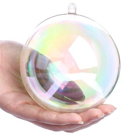 acrylic ornaments 100mm borealis acrylic fillable ornament