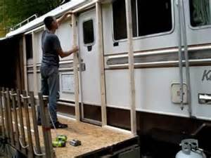Build A Porch Roof by Framing My Rv Passive Solar Heating Porch Part 1 Youtube