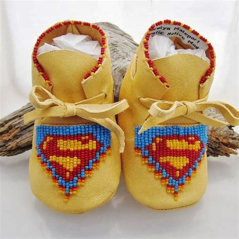 beaded baby moccasins superman beaded baby moccasins and soft by authenticnativemade