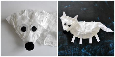 fox crafts for paper plate arctic fox craft for i crafty things