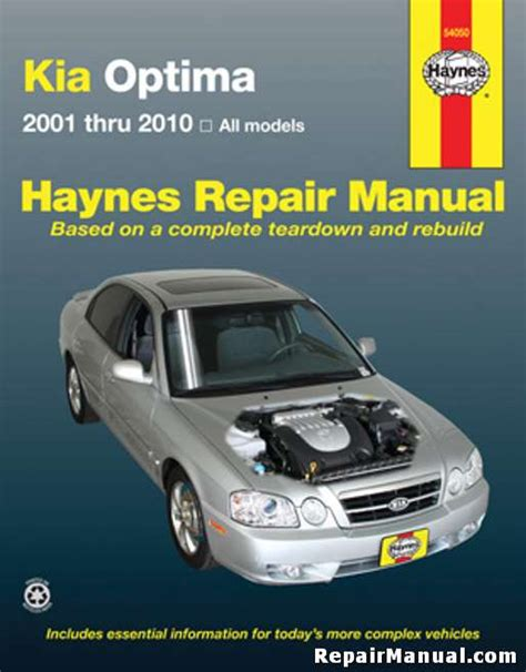 car repair manual download 2005 kia optima parking system kia optima 2001 2010 haynes car repair manual