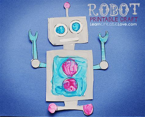 robot crafts for free robot themed printables and crafts
