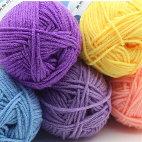 knitting in new yarn great warm soft cotton baby knitting wool yarn milk cotton
