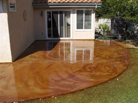 how to stain concrete patio yourself how to stain concrete