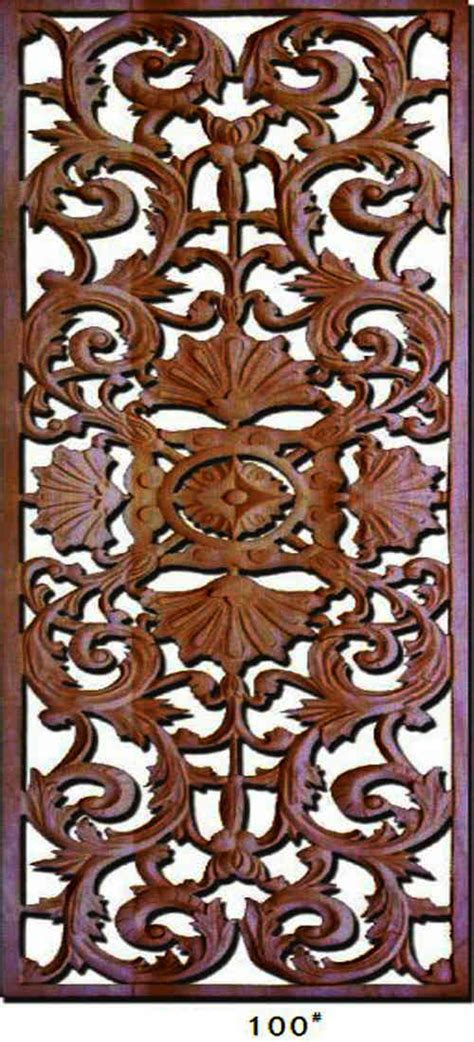 Decorative Carved Wood Panels Cnc Route Cuted Wood Panels