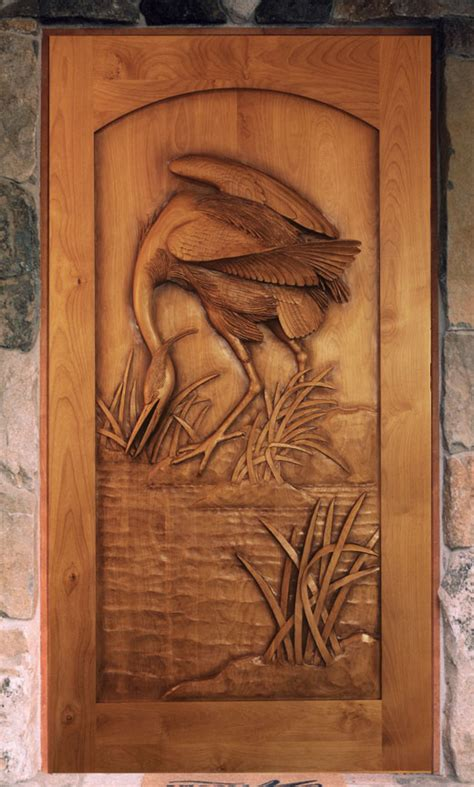 carved front doors carved by ramsey carved wood doors wildlife carving