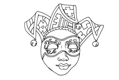 coloriage masque de carnaval venise 224 imprimer