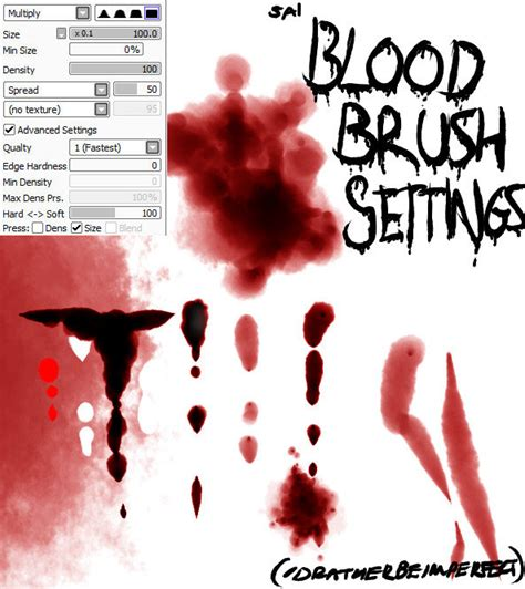 paint tool sai blood tutorial paint tool sai blood brush settings updated by