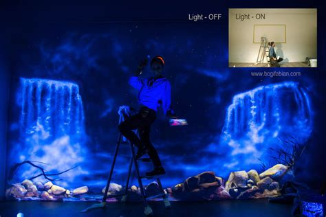 glow in the paint wall glowing murals turn rooms into dreamy worlds