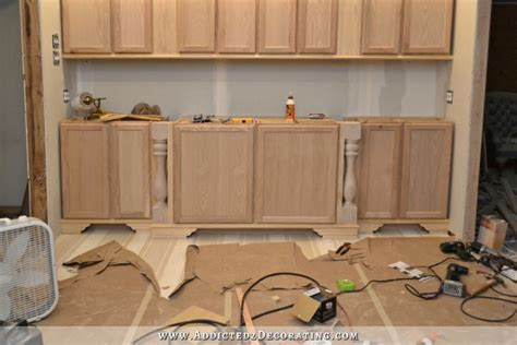 Lowes Kitchen Island Cabinet diy decorative feet for stock cabinets