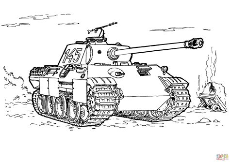 army cif picture book panther tank coloring page free printable coloring pages
