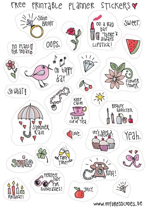 Tattoo Sticker Drucken by Free Printable Sticker Filofax Kalender Journal Zum
