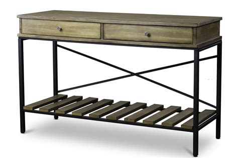superior metal and woodwork baxton studionewcastle wood and metal console table criss