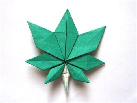origami marijuana leaf origami maple leaf by quot jassu quot kyu seok oh part 1 of 2