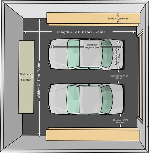 two car garage dimensions the dimensions of an one car and a two car garage