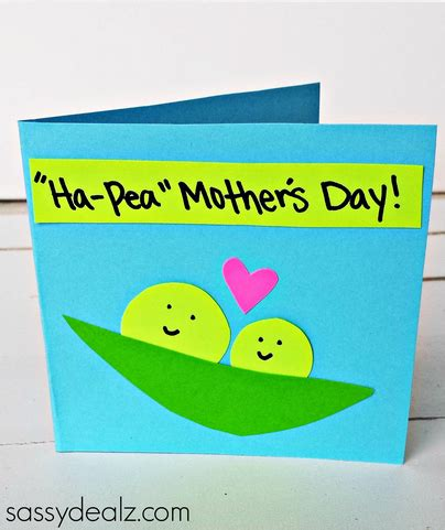 mothers day cards for to make quot ha pea quot s day card for to make crafty morning