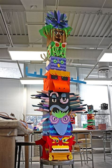 totem pole craft project cool totem pole craft projects for hative