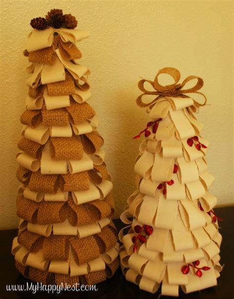 burlap craft projects burlap trees decorating