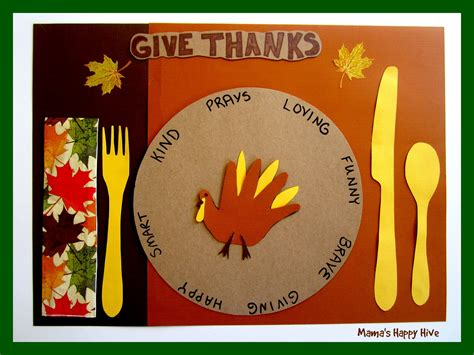 thanksgiving placemat craft for 5 crafting gratitude turkey placemats s happy hive