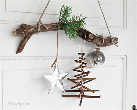 rustic twig tree rustic twig tree ornament on a branchfunky junk