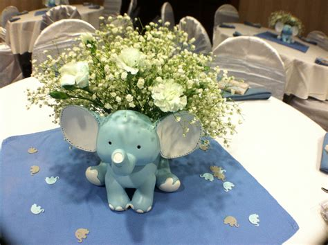elephant themed baby shower centerpieces baby shower elephant theme for a boy center pieces