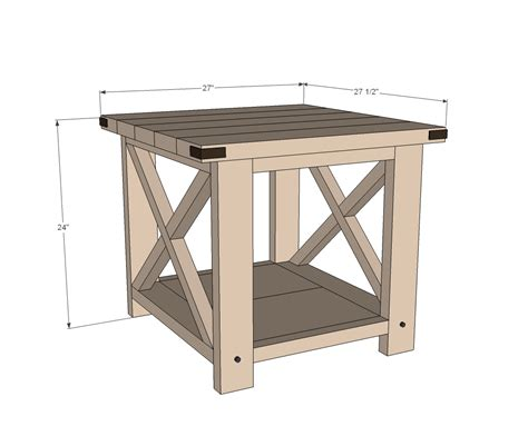 woodworking plans side table rustic end table woodworking plans woodshop plans