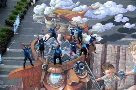 chalk paint australia sydney 3d streetart sydney australia 3d painting