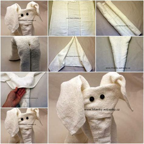 easy towel origami how to make easy towel elephant step by step diy tutorial