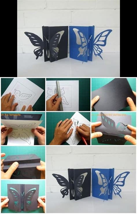 how to make a 3d card how to make 3d butterfly card usefuldiy