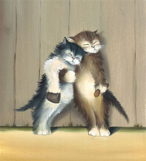 cat painting photos friends cat print from original cat by mysoulfly