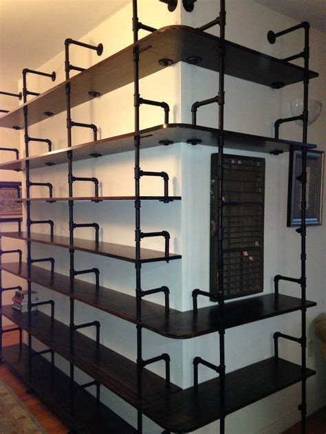 galvanized pipe bookshelves 501 best images about industrial pipe shelves on