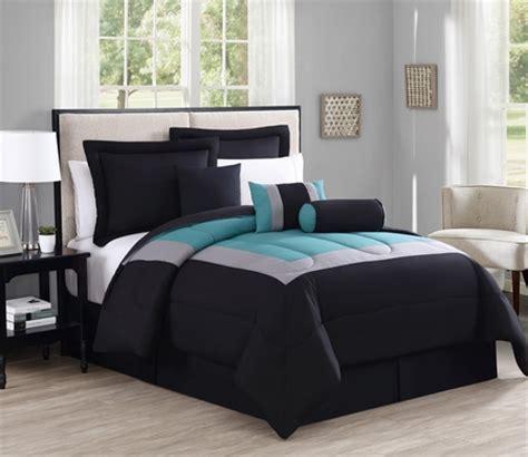 teal king size comforter sets 7 rosslyn black teal comforter set