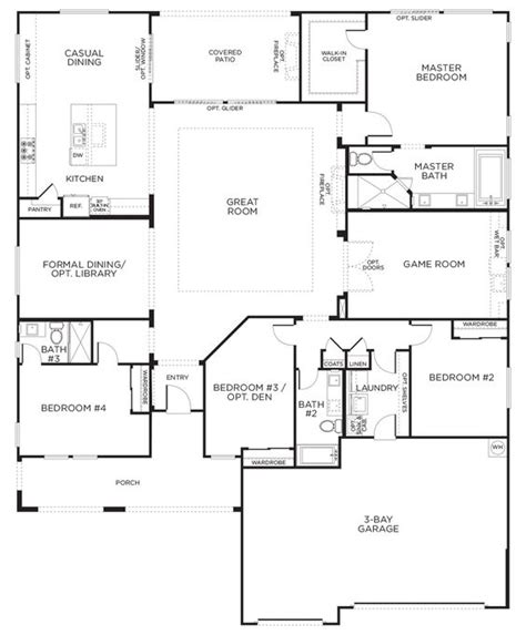 single floor house plans this layout with rooms single story floor