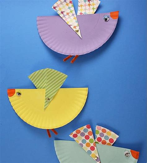 flying crafts for flying bird paper plate allfreepapercrafts