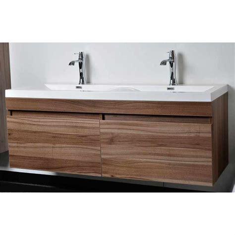 bathroom vanity sinks modern modern bathroom vanity set with wavy sinks in walnut tn