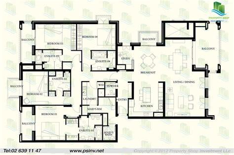 4 bedroom flat floor plan 4 bedroom type a unit floor plan st regis apartment st