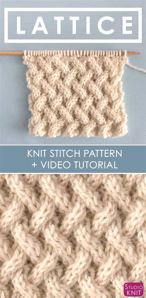 how do you slip a stitch in knitting how to knit the lattice cable stitch pattern us227