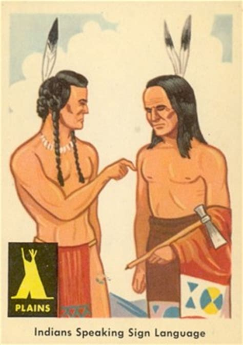 indian trade price guide 1959 indian trading card indians speaking sign language