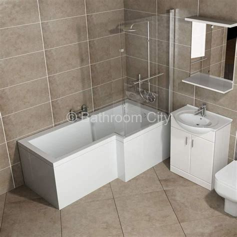 shower or bath l shape shower bath right handed buy at bathroom city