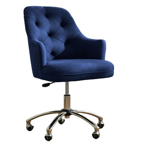 Desk Chairs by Twill Tufted Desk Chair Pbteen