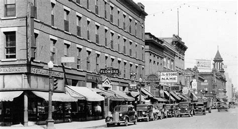 rubber st stores avenue in the 1930s fargo history