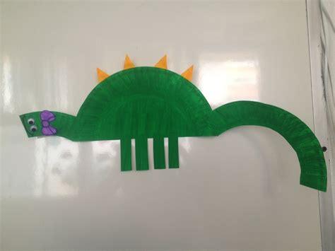 dinosaur paper plate craft paper plate dinosaur craft junior